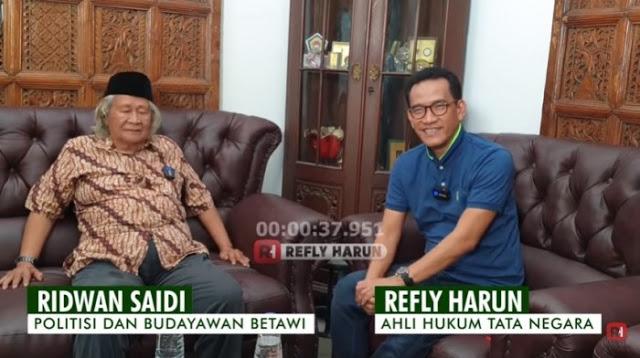 Akankah Jokowi Jadi Presiden hingga 2024? Begini Analisis Babe Ridwan Saidi